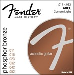 Fender 60CL Phosphor Bronze Wound Ball End Strings 11-52
