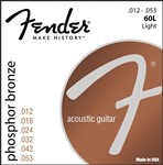 Fender 60L Phosphor Bronze Wound Ball End Strings 12-53