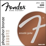Fender 60M Phosphor Bronze Wound Ball End Strings 13-56