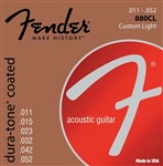Fender 880CL Dura-Tone Coated 80/20 Bronze Strings 11-52
