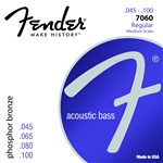 Fender 7060 Acoustic Bass Guitar Phosphor Bronze Strings (32 Scale, 45-100)