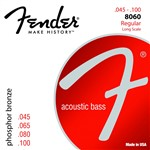 Fender 8060 Acoustic Bass Guitar Phosphor Bronze Strings (34 Scale, 45-100)