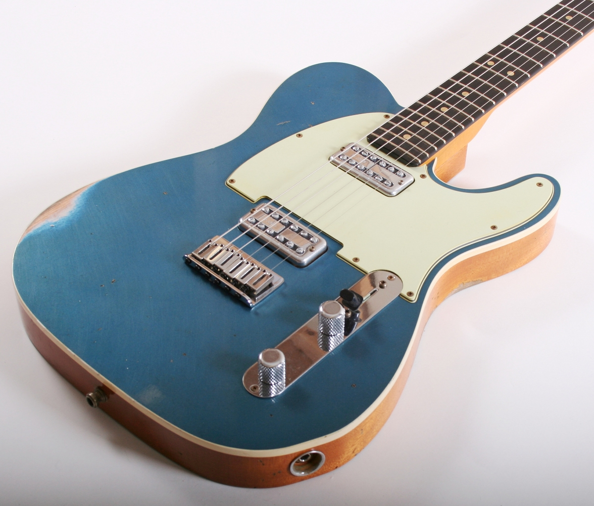 fender custom shop double tv jones telecaster relic lake placid blue. Black Bedroom Furniture Sets. Home Design Ideas