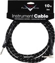 Fender Custom Shop Performance Series Instrument Cable (10ft 3M, Angled Black Tweed)