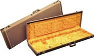 Fender Deluxe Brown Case - Gold Plush Interior for Jag/Jazzmaster