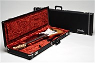 Fender Deluxe Strat/Tele Case (Black with Orange Plush Interior)