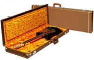 Fender Deluxe Strat/Tele Case (Brown with Gold Plush Interior)