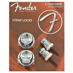 Fender F Strap Locks (Chrome)