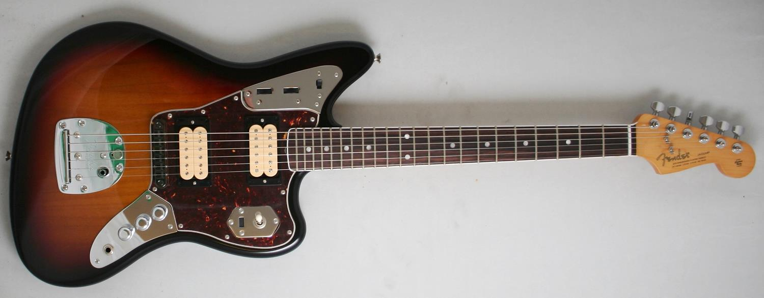 fender kurt cobain jaguar nos 3 tone sunburst electric. Black Bedroom Furniture Sets. Home Design Ideas