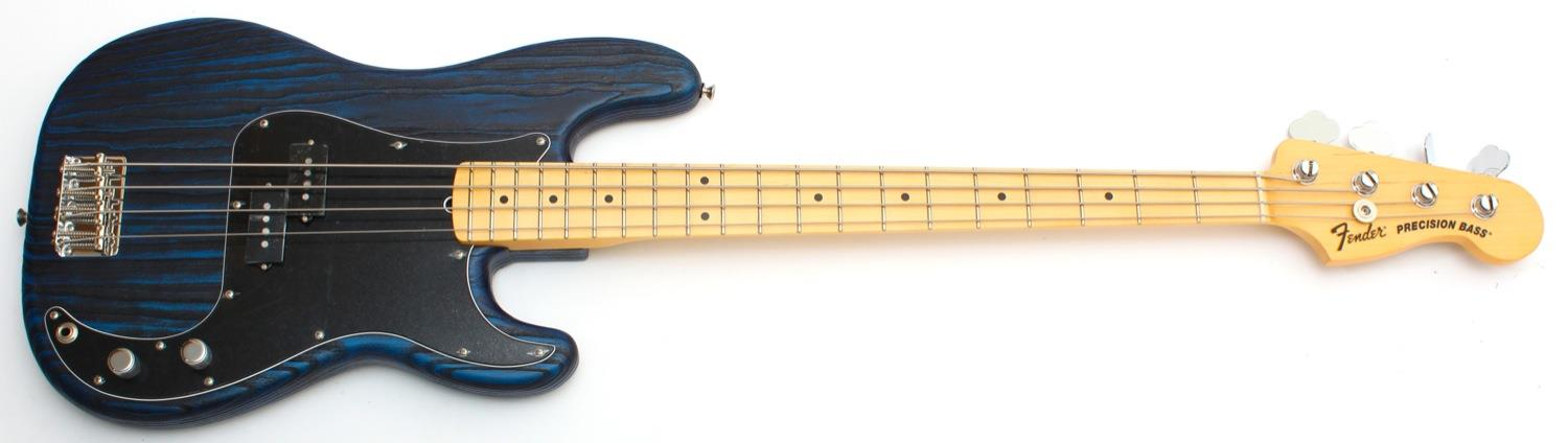 Fender Limited Edition Sandblasted American Precision Bass Sapphire Blue Transparent