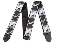 Fender Monogrammed Strap (Light Grey and Blue)
