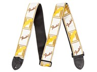 Fender Monogrammed Strap (White, Yellow, Brown)