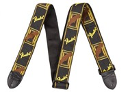 Fender Monogrammed Strap (Yellow and Brown)