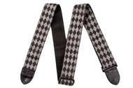 Fender Nylon Diamond Guitar Strap (2in, Black/Grey)