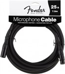 Fender Performance Series Microphone Cable (25ft 7.5M, Black)