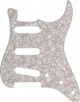 Fender Standard Strat Single Coil Pickguard (4-Ply, Aged White Moto)