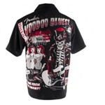 Fender Wooven Voodoo Short Sleeve Shirt (S)