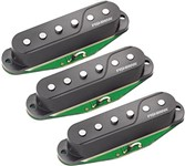 Fishman PRF-STR-BK3 Fluence Strat Pickup Set, Black