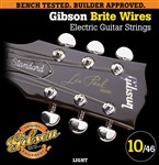 Gibson Gear Brite Wires Nickel Plated Electric, Light, 10-46