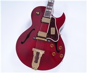 GibsonCustomL4CESMahoganyWineRed-FrontHalf