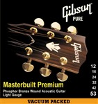 Gibson Gear Masterbuilt Premium Phosphor Bronze Acoustic, Light, 12-53