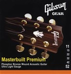 Gibson Gear Masterbuilt Premium Phosphor Bronze Acoustic, Ultra Light, 11-52
