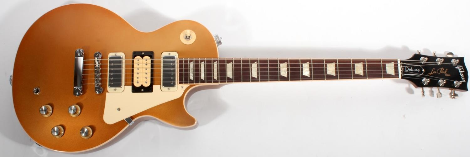 gibson usa pete townshend les paul deluxe 39 76 limited run gold top. Black Bedroom Furniture Sets. Home Design Ideas