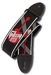 Gibson Gear 2 Inch Woven Guitar Strap (Black/Red)