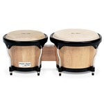 Gon Bops Fiesta Bongos (7/8.5in, Natural with Black Hardware) - FS785N