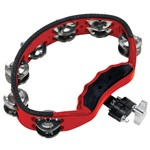 Gon Bops PTAM10 Tambourine with Steel Jingles, Red