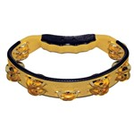 Gon Bops Tambourine with Brass Jingles (Yellow) - PTAMBR