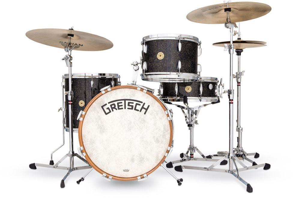 Gretsch USA Broadkaster 3 Piece Vintage Shell Pack 22in, Anniversary Sparkle