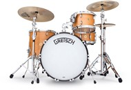 Gretsch USA Broadkaster 3 Piece Vintage Shell Pack 24in, Satin Classic Maple