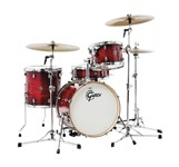 Gretsch CT1-J484 Catalina Club 4 Piece Shell Pack, Gloss Crimson Burst