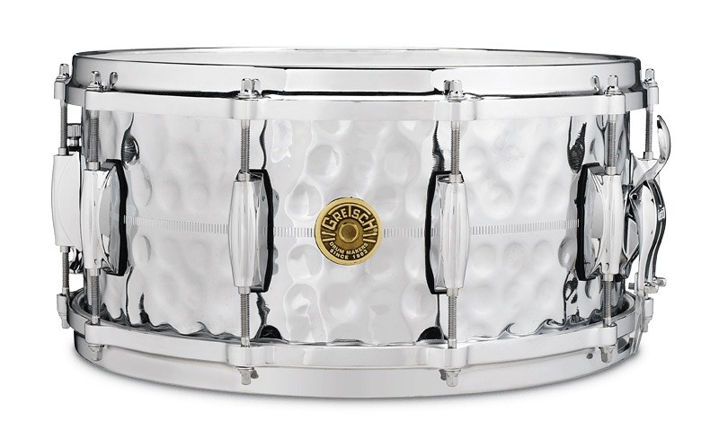 Hammered Chrome Over Brass Snare (14x6.5in)