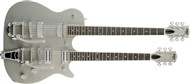 Gretsch G5566 Jet Double Neck Silver Sparkle