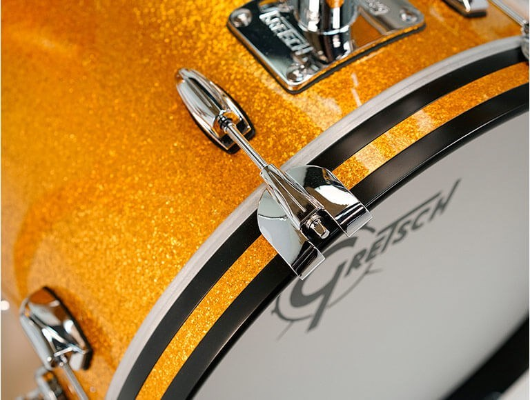 Brooklyn 3 Piece Shell Pack, Gold Sparkle,Bass