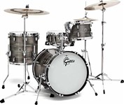Gretsch GB-R443 USA Brooklyn 3 Piece Shell Pack, Grey Oyster