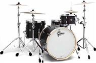 Gretsch GB-R443 USA Brooklyn 3 Piece Shell Pack, Satin Dark Ebony