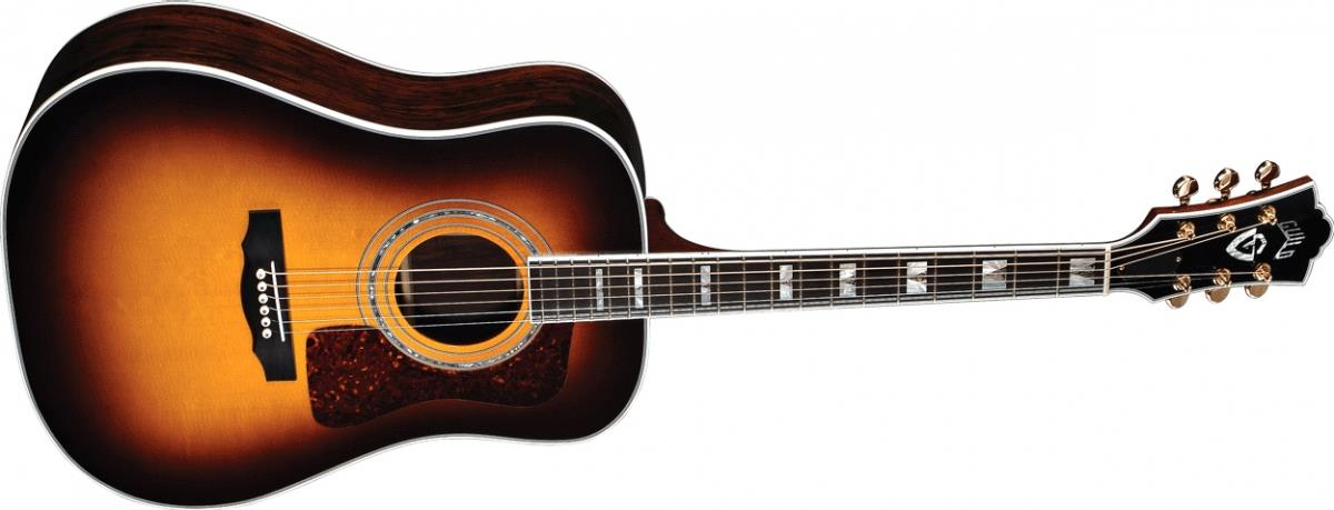 Guild D-55 with D-TAR Rosewood Dreadnought (Antique Burst)
