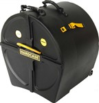 Hardcase Power Bass Drum Case w/Wheels (22x14in)