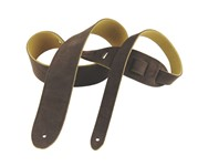 Henry Heller HBS2 Basic Suede Strap, 2in, Chocolate