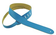 Henry Heller Capri Leather Strap (2 Inches, Blue, HCAP2-BLU)