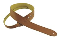 Henry Heller HCAP2 Capri Leather Strap, 2in, Brown