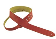 Henry Heller Capri Leather Strap (2 Inches, Red, HCAP2-RED)