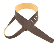 Henry Heller Deluxe Basket Weave Leather Strap (Brown, HBW25-BRN)
