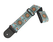 Henry Heller HJQ25 Deluxe Jacquard Strap, 2.5in, Blue/Orange