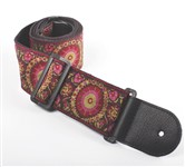 Henry Heller Deluxe Jacquard Strap (2.5 Inch, Magenta/Gold, HJQ25-07)