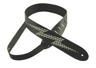 Henry Heller Leather Strap With Graphic (2 Inch, Black Lightning, HBOL2-01)