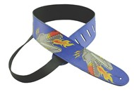 Henry Heller Leather Strap With Graphic (2.5 Inch, Robot, Blue, HTB25-25)
